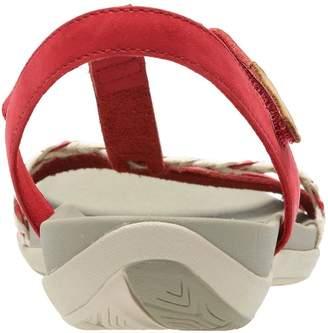 Clarks Tealite Grace Flat Sandal Shoes - Red