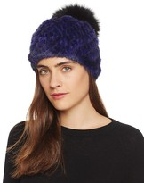 Jocelyn Mink Fur Beanie with Fox Fur Pom-Pom - 100% Bloomingdale's Exclusive
