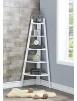 Andover Mills Mari Wood Corner Bookcase Color: White