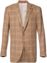 Isaia checkered blazer