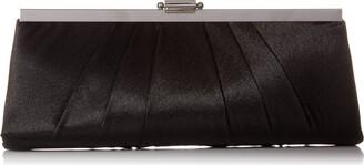 Jessica McClintock Women's Blaire Satin Frame Evening Clutch Handbag