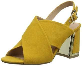 New Look Women's Tootsie Open Toe Heels, Yellow (Dark Yellow 87), (38 EU)