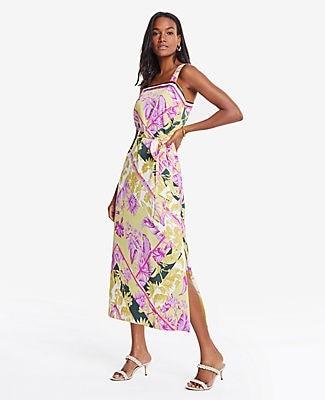 Ann Taylor Petite Floral Scarf Print Maxi Dress