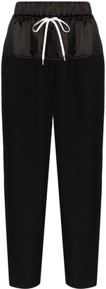Givenchy Panelled Wide-Leg Track Pants