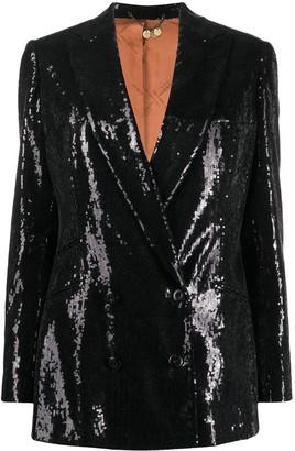 Maurizio Miri Oversized Sequin Embroidered Blazer