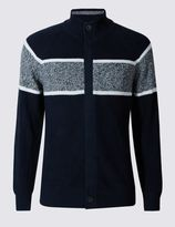 Marks and Spencer Pure Cotton Sporty Striped Cardigan