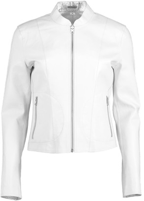 LAMARQUE White and Silver Reversible Chapin Jacket