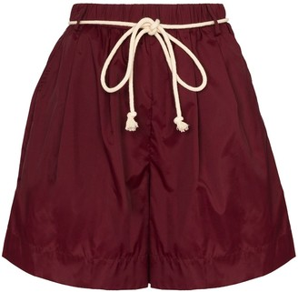STAUD Shell belted shorts