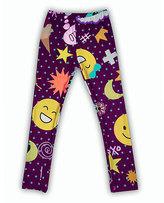 Urban Smalls Purple Emoji Leggings - Infant Toddler & Girls