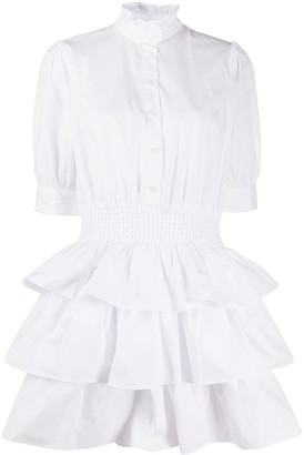 MICHAEL Michael Kors Flared Ruffled-Neck Shirt Dress