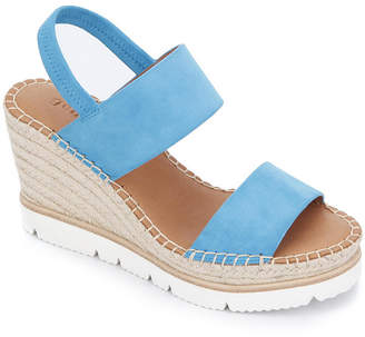 Gentle Souls by Kenneth Cole Elyssa Two-Band Wedge Sandals Women Shoes