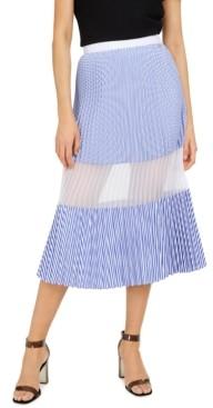 AX Armani Exchange Pleated Mesh Panel Skirt