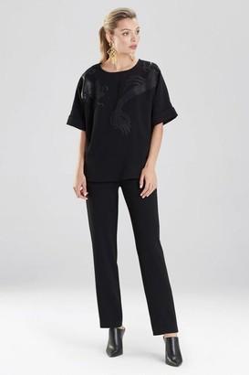 Natori Solid Crepe T-Shirt Top