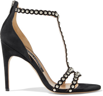 Sergio Rossi Dafne Studded Suede Sandals