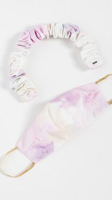 LELET NY Cotton Candy Headband And Face Covering Set