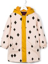 Bobo Choses diamond print padded coat