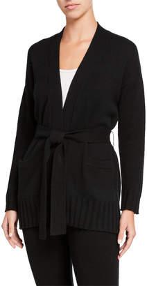Amicale Belted Cashmere Kimono Cardigan
