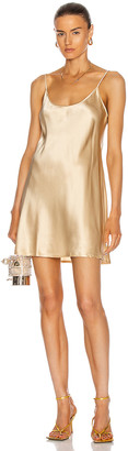 La Perla Silk Short Slip Dress in Beige Stone | FWRD