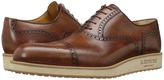 a. testoni Antiqued Medallion Toe Sneaker Men's Lace Up Wing Tip Shoes