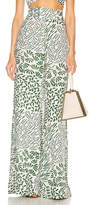 Alexis Neassa Pant in Green Abstract   FWRD