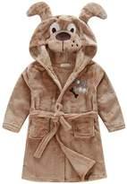 SunnyWorld Toddlers/kids Hooded Terry Robe Fleece Bathrobe Children's Pajamas Cartoon Animals Sleepwear