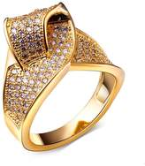 DC 1989 Women's Real Gold Plated Bling Ring