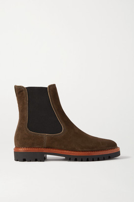 Vince Carmine Suede Chelsea Boots - Army green