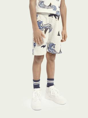Scotch & Soda Printed organic cotton sweat shorts | Boys