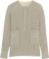 Altuzarra Carnegie Pinstriped Silk Crepe De Chine Shirt - Ecru