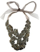 Vera Wang Crystal & Bead Bib Necklace