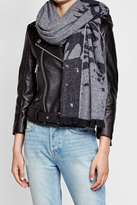 McQ Swallow Print Wool-Blend Cape