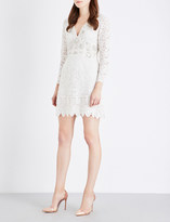 French Connection Emmie embellished lace dress