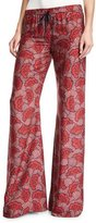 Alexis Serephine Printed Drawstring Wide-Leg Pants