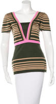Fendi Cashmere & Silk Striped Top