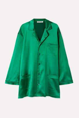 Balenciaga Oversized Satin Shirt - Emerald