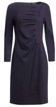 Giorgio Armani Ruched Jersey A-Line Dress