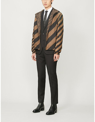 Fendi Logo-print shell hooded jacket