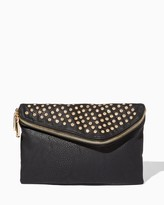 Charming charlie Studded Foldover Clutch