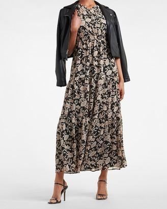 Express Floral Tiered Maxi Dress