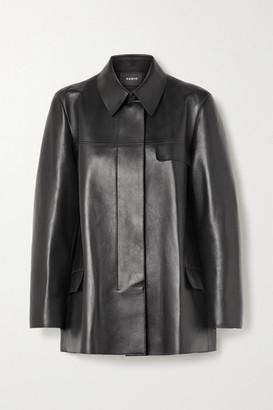 Akris Leather Jacket - Black