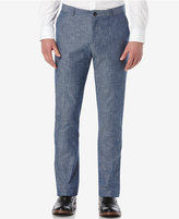 Perry Ellis Men's Slim-Fit Chambray Slub Flat-Front Chinos