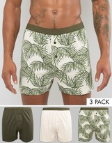Asos Jersey Boxers With Floral Print 3 Pack