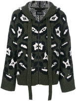 Zadig & Voltaire leopard print hooded cardigan
