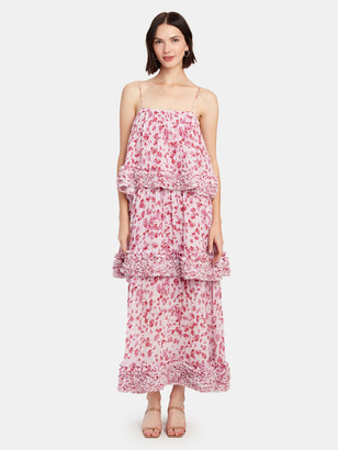 AMUR Nicola Tiered Ruffle Maxi Dress