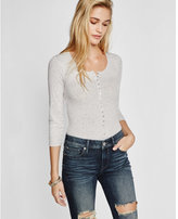 Express One Eleven Henley Thong Bodysuit