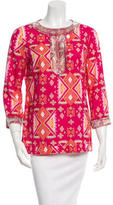 Tory Burch Embellished Print Top