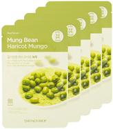 The Face Shop Real Nature Mung Bean Face Mask - Pore Detox (5 PK)