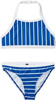 Ralph Lauren Girls' Striped Two Piece Swimsuit - Sizes 7-16