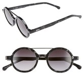 Komono Women's Vivien 46Mm Round Sunglasses - Black Marble