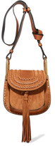Chloé Hudson Mini Whipstitched Suede Shoulder Bag - Tan